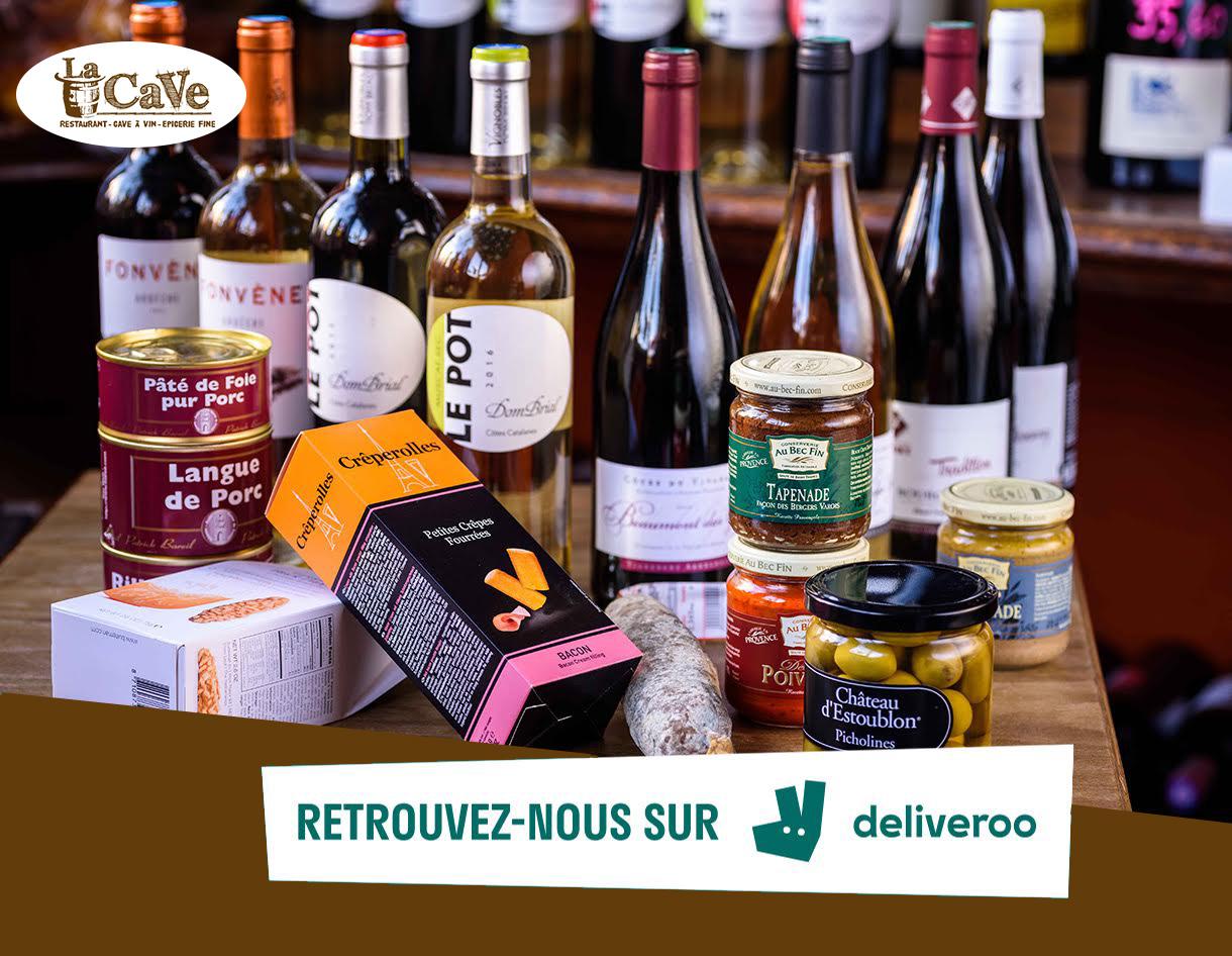 Photo nos produits d'épicerie fine disponibles sur delivroo