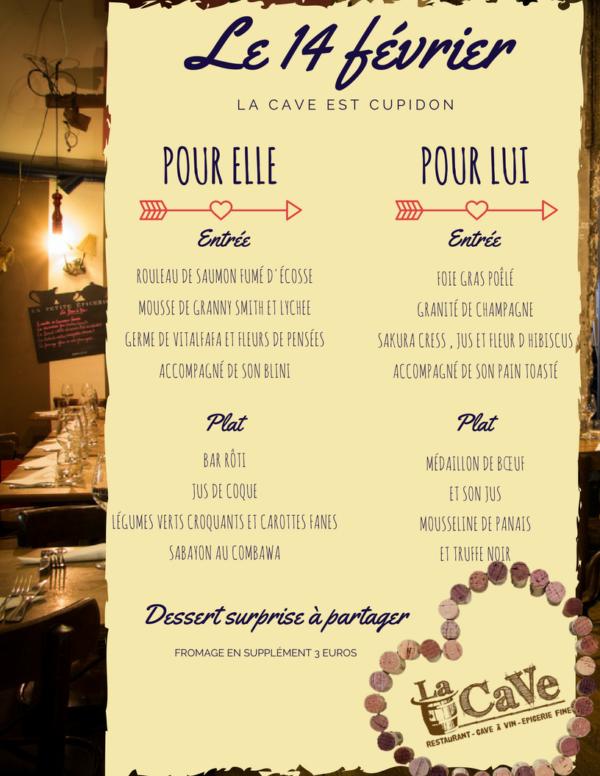 Notre menu pour les amoureux