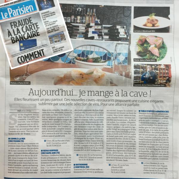 PRESSE / Le Parisien donne un sans faute à La Cave !