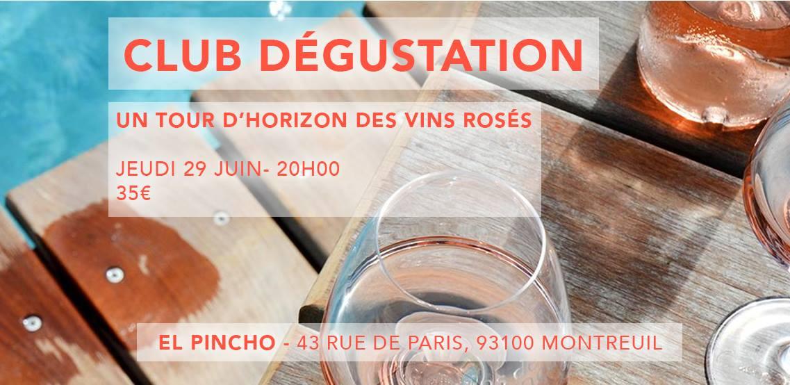 Le Club Dégustation et les vins rosés