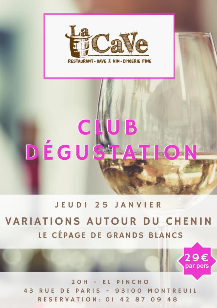 Club dégustation – Variations autour du Chenin